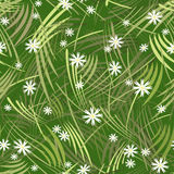 Seamless pattern flowers in grass Stock Photography