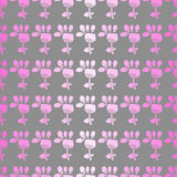 Seamless pattern with flowers on a grey background Stock Photos