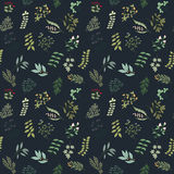 Seamless pattern of flowers, herbs and leaves. Seamless pattern of branches, flowers, herbs and leaves. Hand drawn vector illustration of can be used for Royalty Free Stock Photography