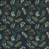 Seamless pattern of flowers, herbs and leaves. Seamless pattern of branches, flowers, herbs and leaves. Hand drawn vector illustration of can be used for Royalty Free Stock Photo