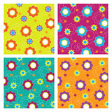 Seamless pattern with flowers. Illustration Royalty Free Stock Images