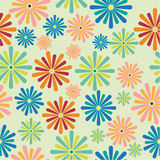 seamless pattern flowers, Royalty Free Stock Photo