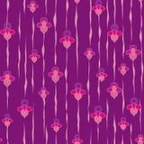 Seamless pattern with flowers iris, Print Stock Photos