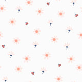Seamless pattern with flowers and ladybugs Stock Photography