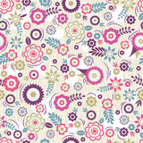 Seamless Pattern with flowers and leafs. Ideal for printing. Onto fabric and paper or scrap booking, vector Stock Photo