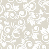 Seamless pattern with flowers and leaves. Floral ornament. Paste Royalty Free Stock Images