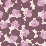Seamless pattern with flowers and leaves of geranium. Stock Photo