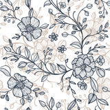 Seamless pattern with flowers and leaves Royalty Free Stock Image
