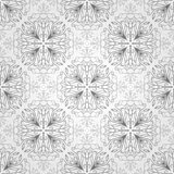 Seamless pattern with flowers and leaves Royalty Free Stock Images