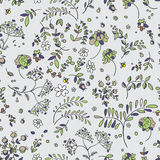Seamless pattern of flowers, leaves, twigs. Floral Fabric Stock Photo