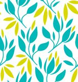 Seamless pattern with flowers and leaves. Vector vintage bright texture. Royalty Free Stock Photography