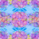 Seamless pattern. Flowers and leaves - watercolor background image - decorative composition. Use printed materials, signs, items, Royalty Free Stock Image
