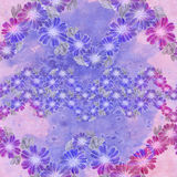 Seamless pattern. Flowers and leaves - watercolor background image - decorative composition. Stock Photography