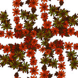 Seamless pattern. Flowers and leaves - watercolor background image - decorative composition. Stock Images