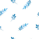Seamless pattern of flowers and leaves Stock Images