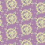 Seamless pattern with flowers lily Royalty Free Stock Photos