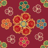 Seamless pattern with flowers. In Middle Eastern style Royalty Free Stock Photos
