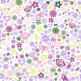 Seamless pattern of flowers Stock Images