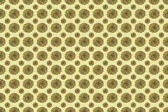 Seamless pattern of flowers in old gold and butterscotch colors Stock Photo