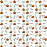 Seamless pattern of flowers orchids Stock Photography