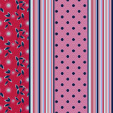 Seamless pattern with flowers,   ornament stylish texture backgroundvertical lines, drawing. Seamless abstract pattern with flowers, vertical lines, drawing dots Royalty Free Stock Images