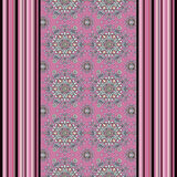 Seamless pattern with flowers,   ornament stylish texture backgroundvertical lines, drawing Stock Image