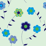 Seamless pattern with flowers patterned Royalty Free Stock Photo