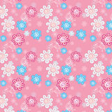 Seamless pattern of flowers on a pink background for childrenEPS. Seamless pattern of flowers on a pink background for children Stock Photo