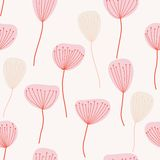 Seamless pattern. Flowers. In pink and beige colors royalty free illustration