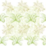 Seamless pattern, flowers and plant Royalty Free Stock Image