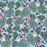 Seamless pattern with flowers and plant motif Royalty Free Stock Image