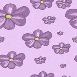 Seamless pattern of flowers Royalty Free Stock Images