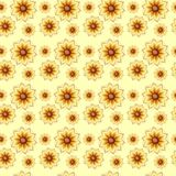 Seamless pattern with flowers. Seamless regular pattern with floral design Stock Image