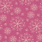 Seamless pattern with flowers on rose background Royalty Free Stock Photography