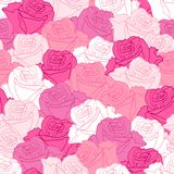 Seamless pattern with flowers roses Stock Photography