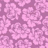 Seamless pattern flowers roses,  floral illustration. Royalty Free Stock Photo