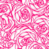 Seamless pattern with flowers roses,  floral illustration Stock Image