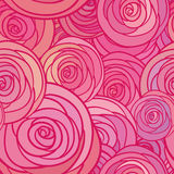 Seamless pattern with flowers roses,  floral illustration Royalty Free Stock Photos