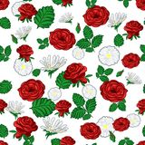 Seamless pattern of flowers Stock Photography