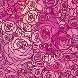 Seamless pattern with flowers roses, vector floral illustration Stock Images