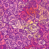 Seamless pattern with flowers roses, vector floral illustration Royalty Free Stock Image