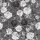 Seamless pattern with flowers roses, vector floral Stock Image