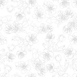 seamless pattern with flowers of sakura Stock Image