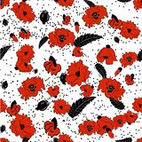 Seamless pattern of flowers Royalty Free Stock Photography