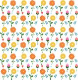 Seamless pattern of flowers stock illustration