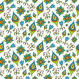 Seamless pattern with flowers. Stock Image - Seamless pattern with flowers Royalty Free Stock Photos