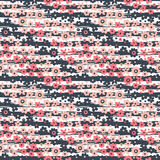 Seamless pattern with flowers on striped Royalty Free Stock Photo