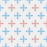 Seamless pattern of flowers with striped petals Royalty Free Stock Image