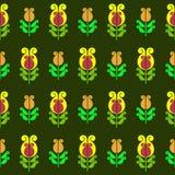 Seamless pattern of flowers. Seamless pattern of stylized geometric flowers Royalty Free Stock Photo