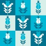 Seamless pattern of flowers. Seamless pattern of stylized geometric flowers Stock Image